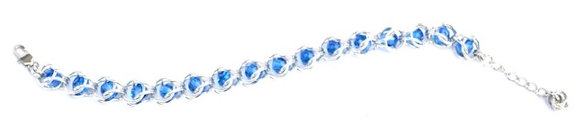 Captured Capri Blue Swarovski Crystal Bracelet