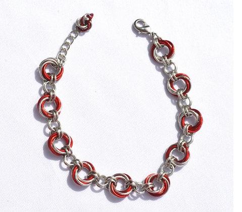 Marsala Spiral Bracelet