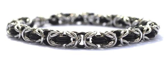 Black & Silver Chain Bracelet