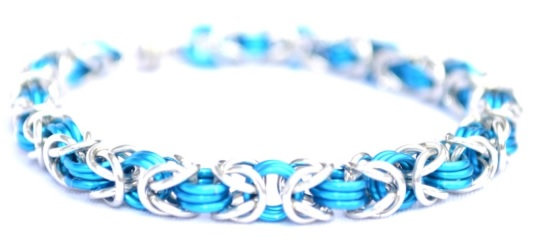 Turquoise and Silver Chain Bracelet