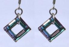 Swarovski Vitrail Light Square Earrings