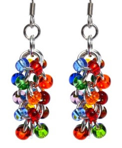 Rainbow Shaggy Loop Earrings