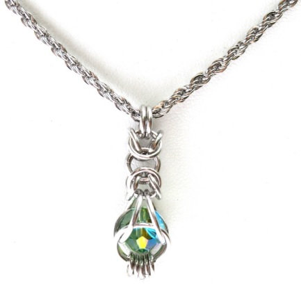 Swarovski Erinite Captured Byzantine Pendant