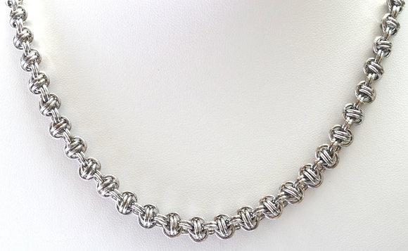 Orbital Silver Necklace