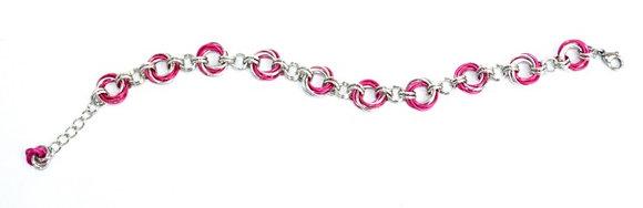 Hot Pink Spiral Bracelet