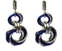 Cobalt & Silver Spiral Earrings