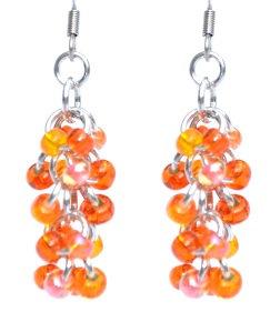 Orange Mega Shaggy Loop Earrings