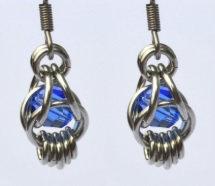 Captured Sapphire Swarovski Crystal Earrings