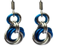 Lapis & Silver Spiral Earrings