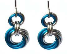 Turquoise & Silver Spiral Earrings