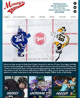 Mannys Sports Website