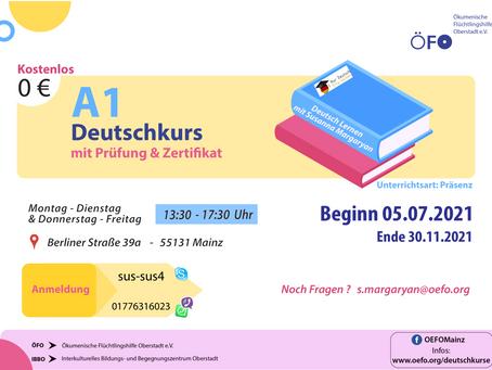 Neuer A1 Deutschkurs