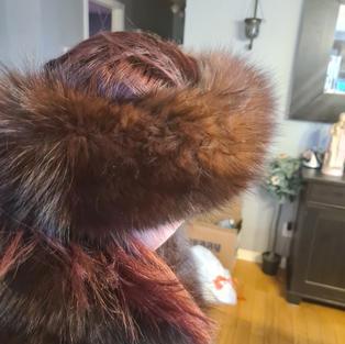 Mink Coat Size XL  - $1500 - Incl Hat + Headband