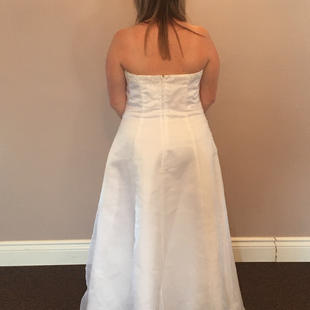 White Wedding Gown Sz 19 Back $400 Back View