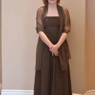 Brown with Shawl Size 8 - $150