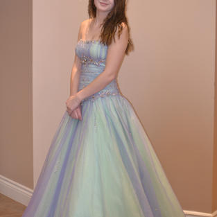 Ice blue puffy Size 2 - $175