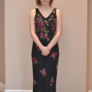 Black Floral Size 12 -  $125.