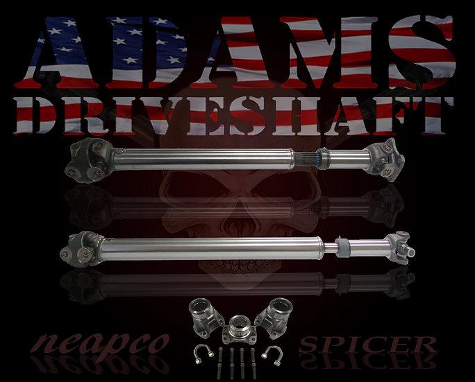 ADAMS DRIVESHAFT JK FRONT & REAR 1310 CV DRIVESHAFT PACKAGE with SPICER SOLIDS [