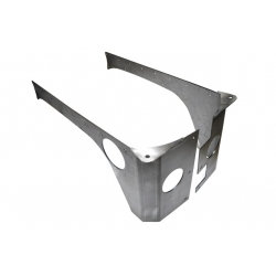 EVO MFG REAR ROCKSKIN CORNERS 4DR (RAW) STEEL JKU EVO-4070-4D