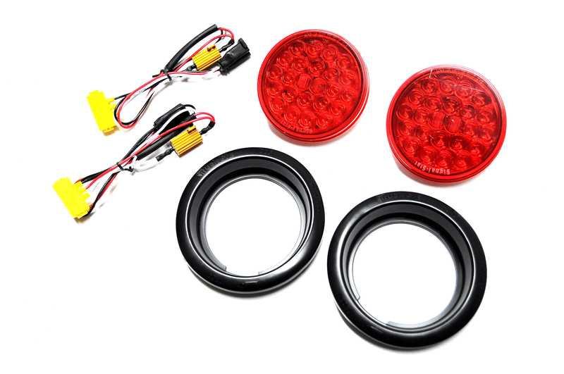 EVO Manufacturing LED Tail Lights for 07-17 Wrangler & Wrangler Unlimited