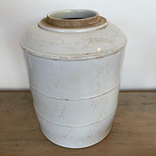 White flamed vase 30H x 22W x 22D