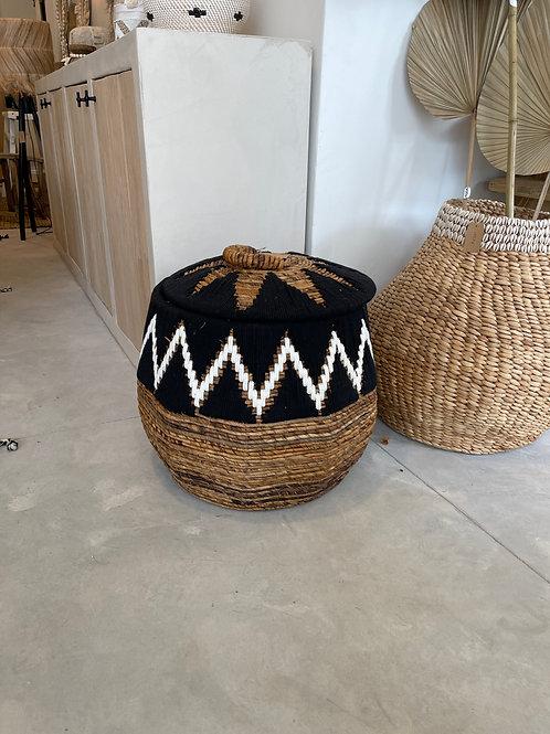 Black storage basket L