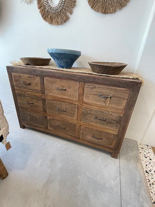 Dresser 9 drawers 145x92x50cm
