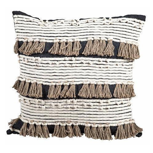 Black macrame pillow 55x55