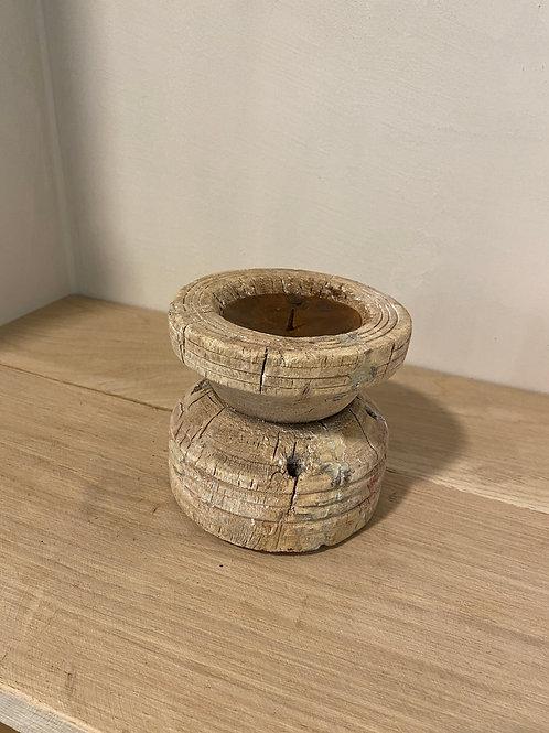 wooden candle holder light 2
