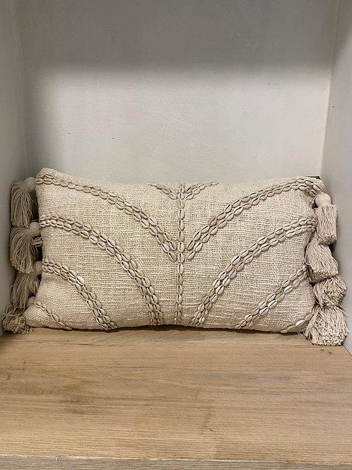 "pillow ""palm of shells"" (30x50cm)"