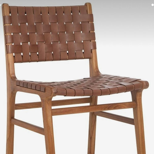 Leather chair handcrafted