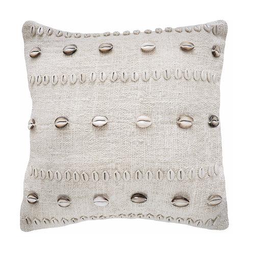 Brown shell pillow (45x45cm)
