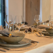Dining table in Beton Cire
