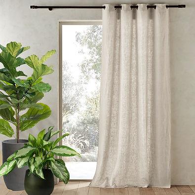 Oatmeal Sheer Linen Curtains & Drapes.jpg