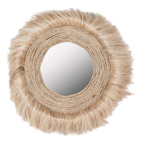 Rotan hippie mirror 100cm