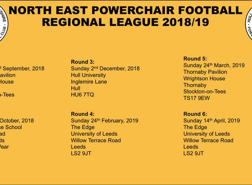 North East Regional League 2018/19 Dates announced