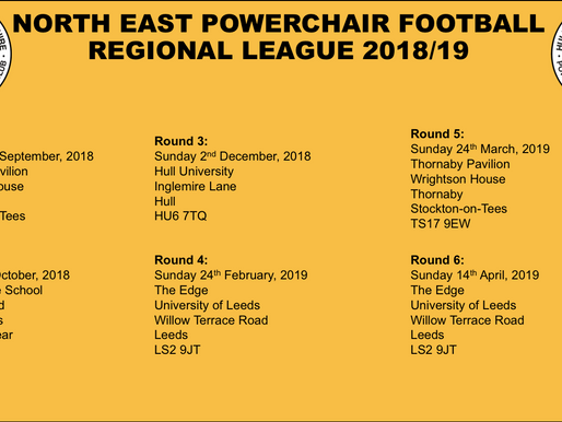 North East Regional League 2018/19 Dates announced
