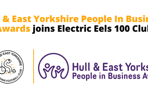 Hull & East Yorkshire People In Business Awards joins Electric Eels 100 Club