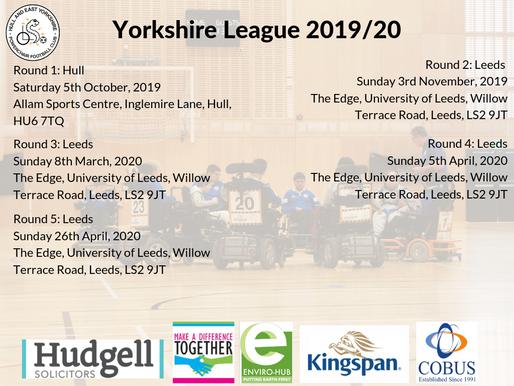 Yorkshire League Dates Announced