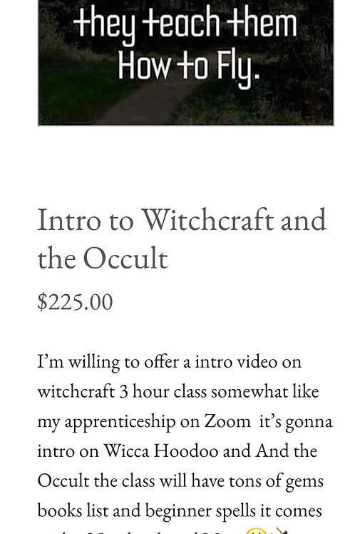 Intro to Witchcraft And the Occult