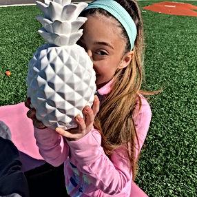 Jaidyn Ventura Modeling for Pineapple Life. Teen and kids yoga apparel