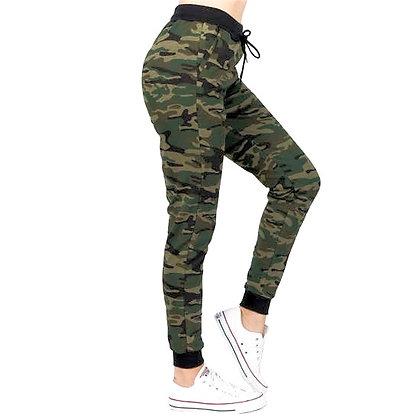 Camo Joggers with Pockets Green
