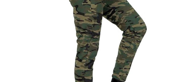Camo Joggers with Pockets Green