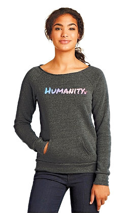 HUMANITY Wide Neck Sweatshirt