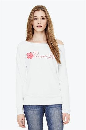 Pineapple Life Classic White Wide Neck Sweatshirt
