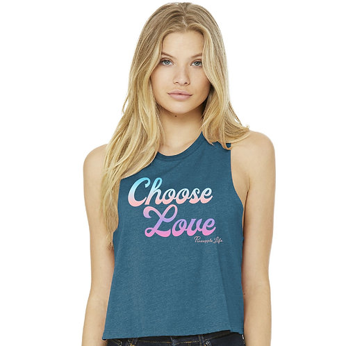 Choose Love Cropped Tank
