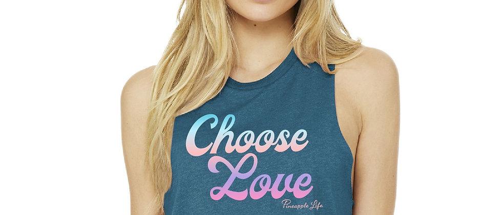 Choose Love Cropped Tank