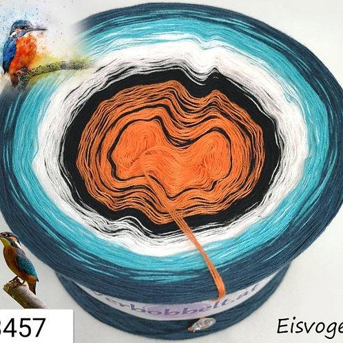 Farbverlaufsbobbel-Verlaufsgarn-Bobbel mit 5 Farben im Farbverlauf-Thema: Eisvogel