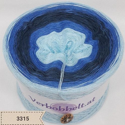 Bobbel mit maritimen Farbverlauf | blaue Farbtöne | Garn zum häkeln und stricken