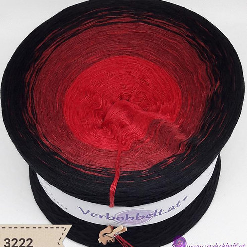 Farbverlaufsgarn   Bobbel   schwarz   rot